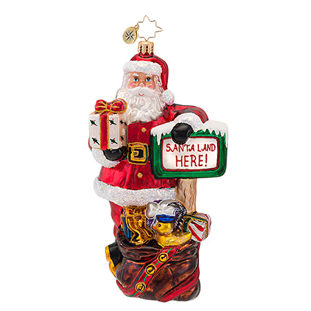 Santa Land  (retired) Radko Ornament