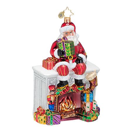 Santa Mantel Santa Radko Ornament