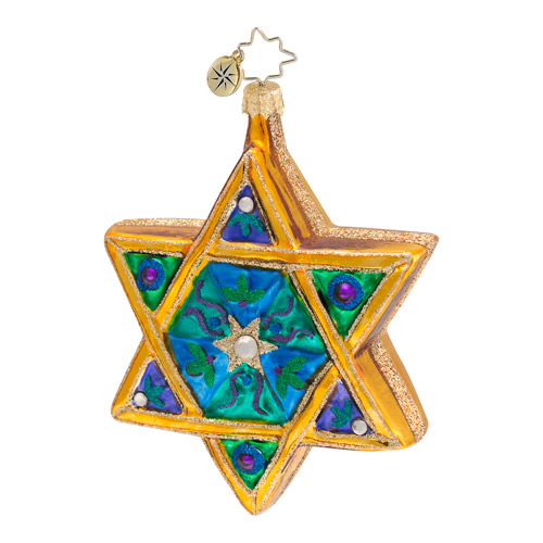 Seal Of Solomon Star Of David  (retired) Radko Ornament