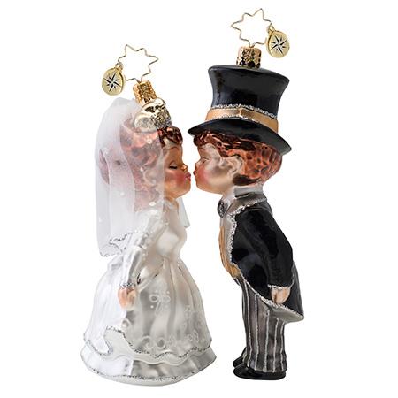 Sealed With A Kiss Bride & Groom Wedding Radko Ornament