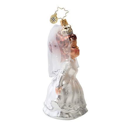 Sealed With A Kiss Bride  (retired) Radko Ornament