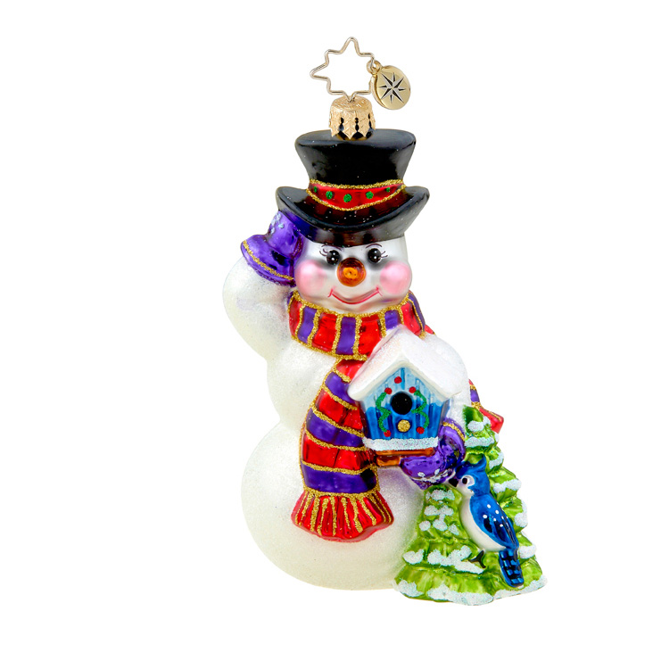 Seasonal Friends Snowman  (retired) Radko Ornament