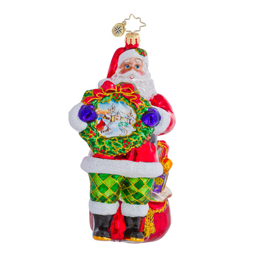 Serene Scene Santa  (retired) Radko Ornament