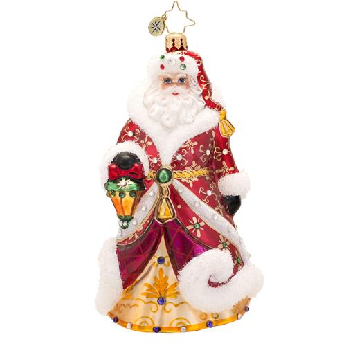 Shimmering Santa Ornament Radko Ornament