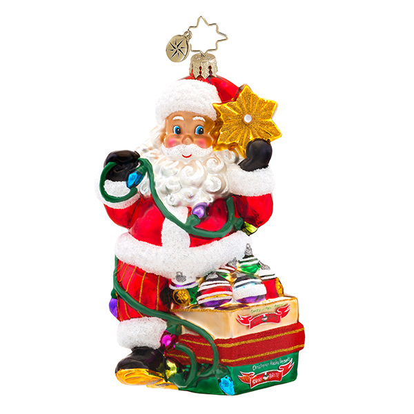 Shiny Brite Santa Radko Ornament