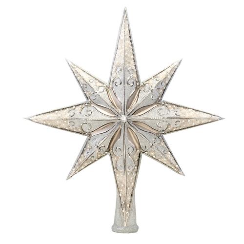 Silver Stellar Finial Radko Ornament