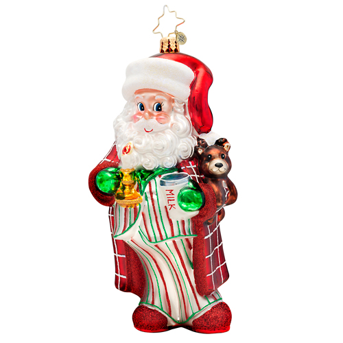 Sleepytime Santa Ornament Radko Ornament