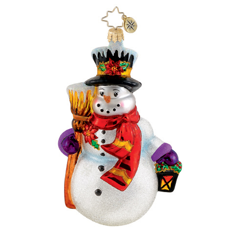 Sno-glo Stroll Snowman  (retired) Radko Ornament