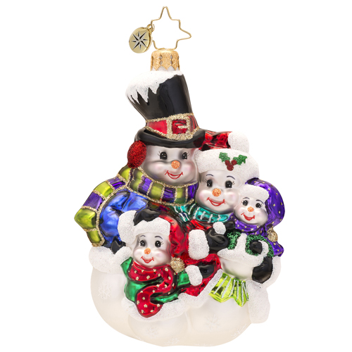 Snow-family Portrait  (retired) Radko Ornament