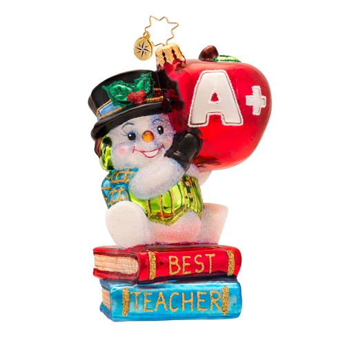 Snow Teacher Like You Ornament Radko Ornament