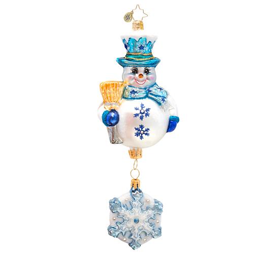Snowflake Cascade Radko Ornament