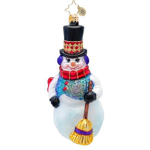 Snowflurry Sweeper Ornament Radko Ornament