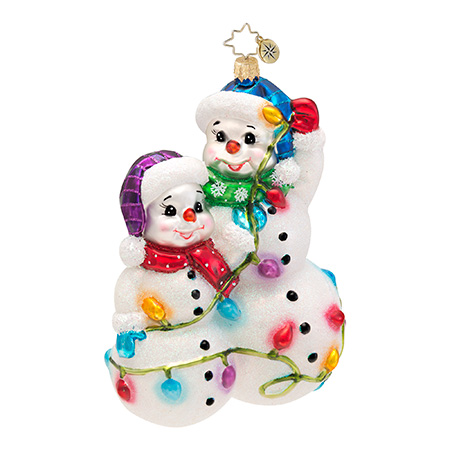 Snowmen Glowmen Radko Ornament