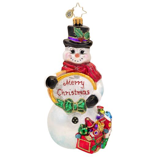 Snowtime Like Christmastime Ornament Radko Ornament