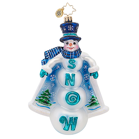 Snowy Capers Snowman  (retired) Radko Ornament