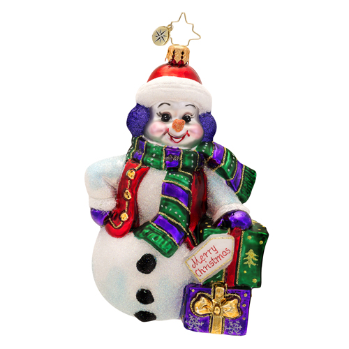 Snowy Gift Pose Radko Ornament