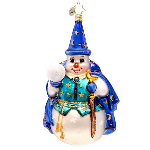 Snowy Sorcerer Radko Ornament
