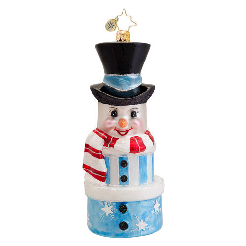 Snowy Stack Snowman  (retired) Radko Ornament