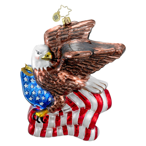Soaring Glory Eagle American Flag  (retired) Radko Ornament