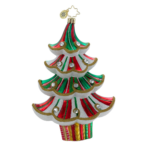 Spiral Spruce Christmas Tree Ornament (retired) Radko Ornament