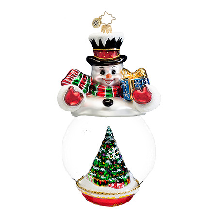 Splendid Showcase Snowman Radko Ornament