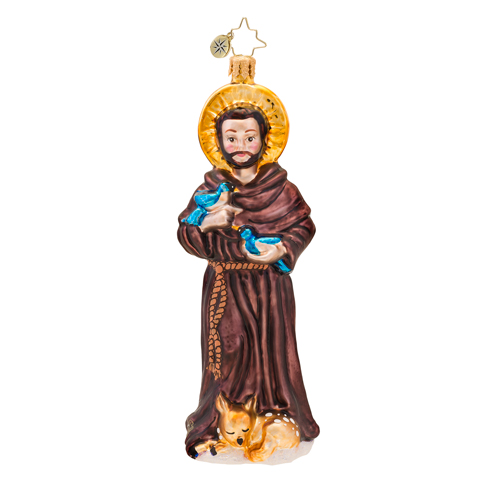 St. Francis Ornament (retired) Radko Ornament