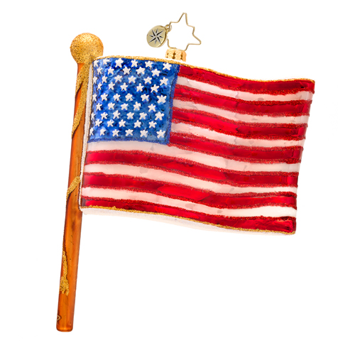 Patriotic USA Radko Ornaments