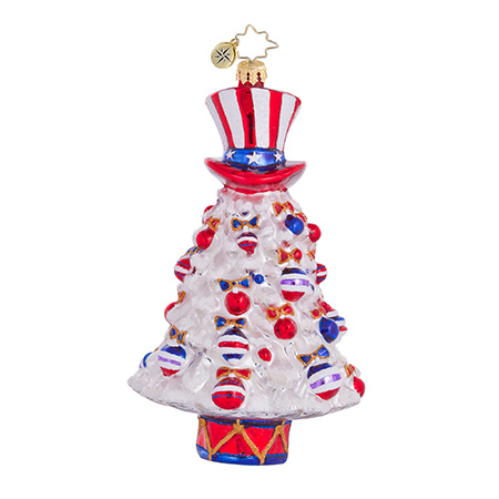 Star Spangled Spruce Patriotic Christmas Tree Ornament (retired) Radko Ornament