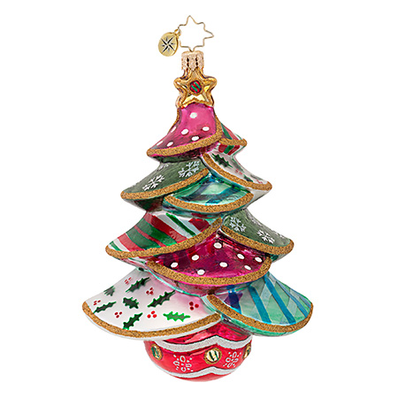 Stitched-up Spruce Christmas Tree Ornament (retired) Radko Ornament