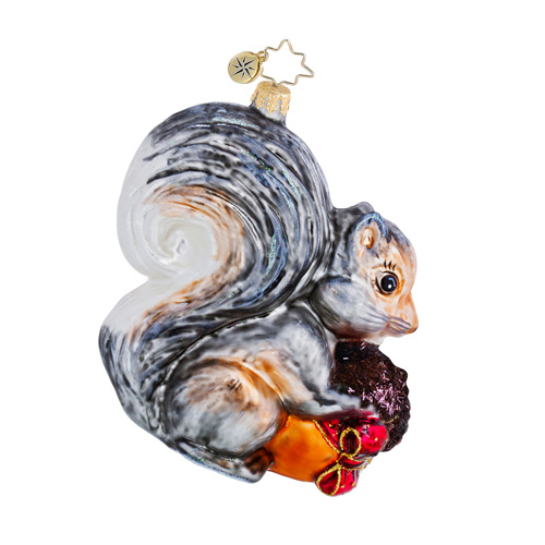 Storing Up For Winter Squirrel  (retired) Radko Ornament