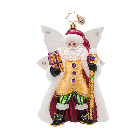 Sugar Plum Wings Santa  (retired) Radko Ornament