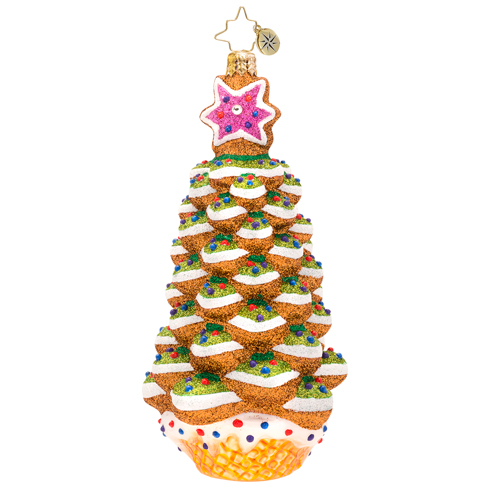 Sugar Spruce Delight Christmas Tree Ornament (retired) Radko Ornament