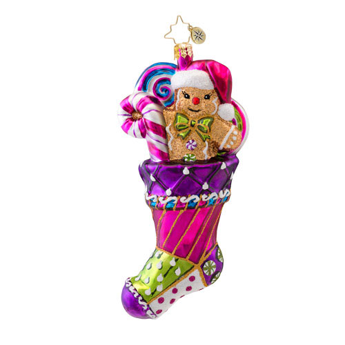 Sugary Sock Stocking  (retired) Radko Ornament