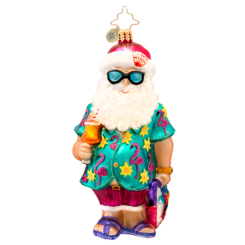 Summer Fun Santa (retired) Radko Ornament