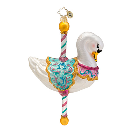 Swanning Around Carousel Animal  (retired) Radko Ornament