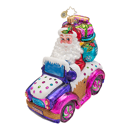 Sweet Ride Santa Car Radko Ornament