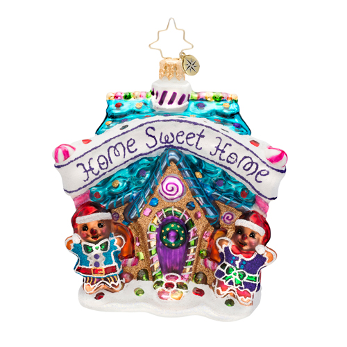 Sweet Welcome Gingerbread House Radko Ornament