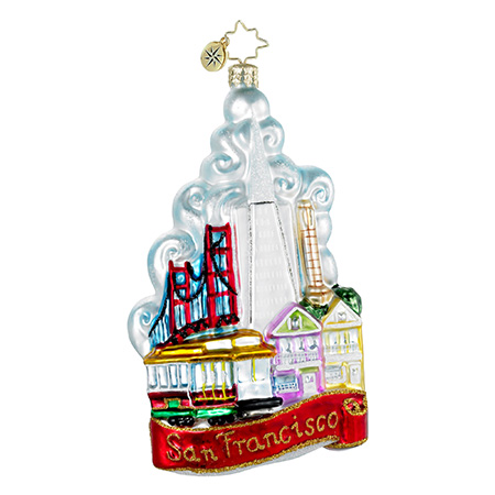 The City By The Bay San Francisco  (retired) Radko Ornament