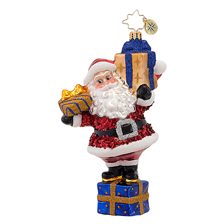 The Joy Of Giving Santa  (retired) Radko Ornament