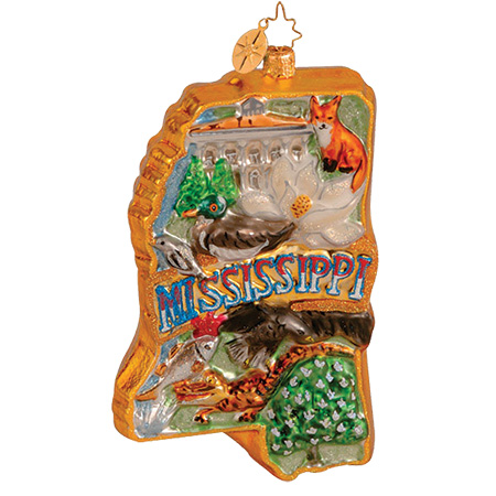 The Magnolia State Mississippi  (retired) Radko Ornament