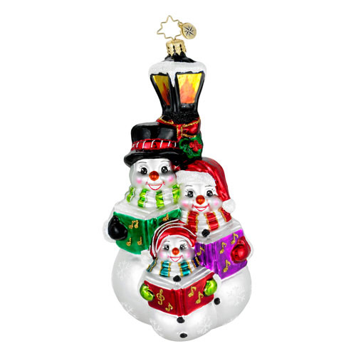 The Three Tenors Snowman  (retired) Radko Ornament