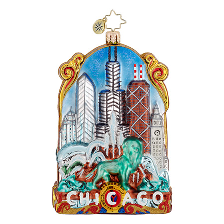 The Windy City Chicago  (retired) Radko Ornament