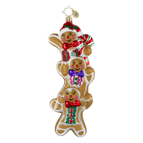 Three Times As Sweet Gingerbread  (retired) Radko Ornament