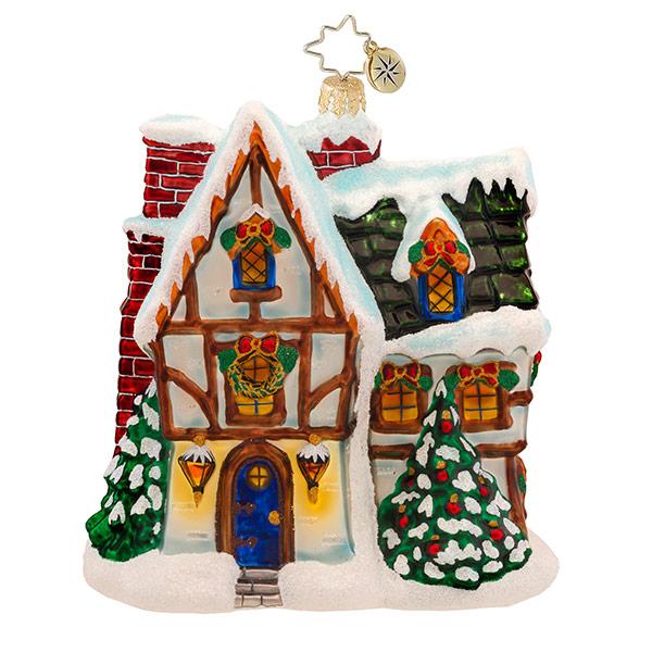Toasty Tudor Radko Ornament