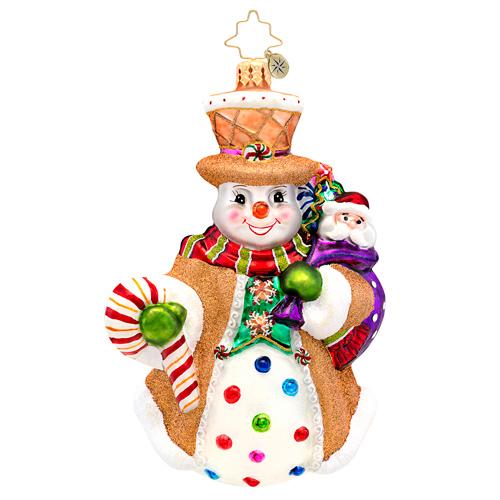 Waffle Wally Snowman Radko Ornament