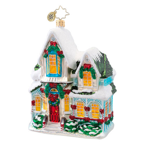 Warm For The Holidays Cottage Radko Ornament