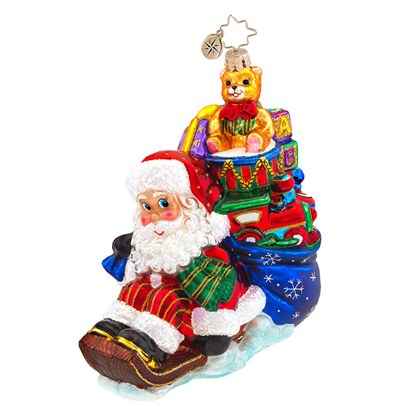Wee Jolly Sleigh Ride Radko Ornament