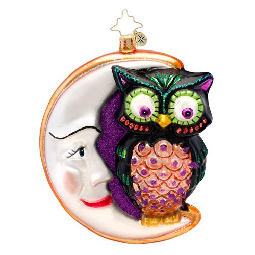 Whooo Moon Radko Ornament