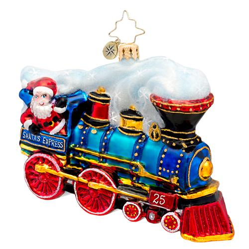 Winter Express Train Radko Ornament