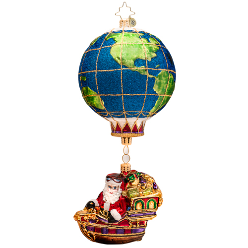 World Traveler Ornament Radko Ornament